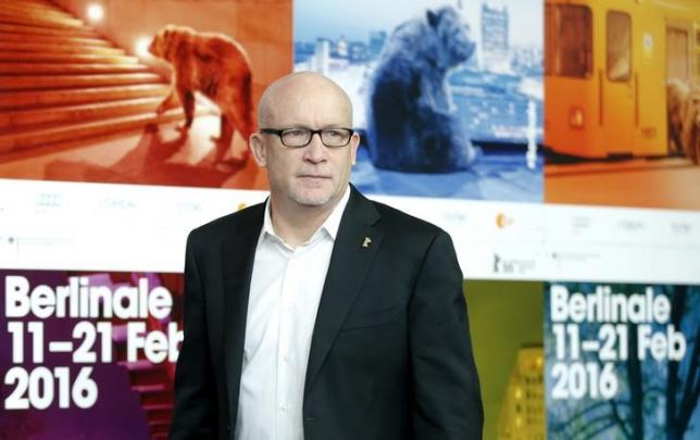 Director Alex Gibney arrives to address a news conference to promote the movie 'Zero Days' at the 66th Berlinale International Film Festival in Berlin, Germany, February 17, 2016.