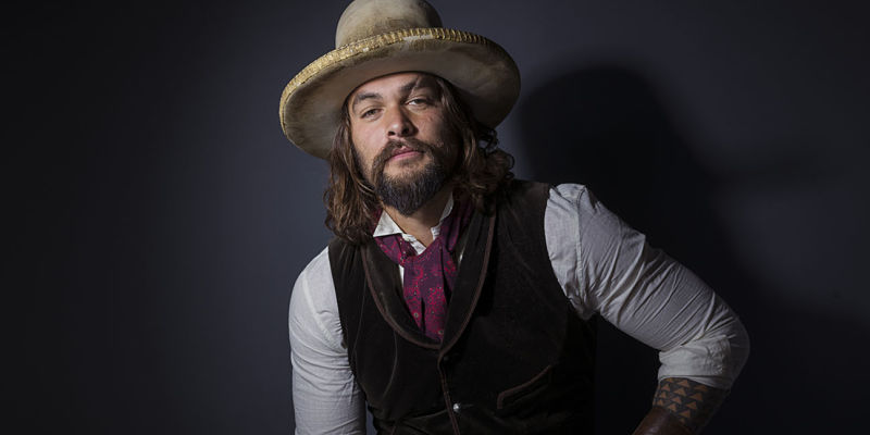 "Jason Momoa poses for a portrait to promote the TV series, ""The Red Road"", at the Eddie Bauer Adventure House during the Sundance Film Festival on Sunday, Jan. 25, 2015, in Park City, Utah. (Photo by Victoria Will/Invision/AP)"