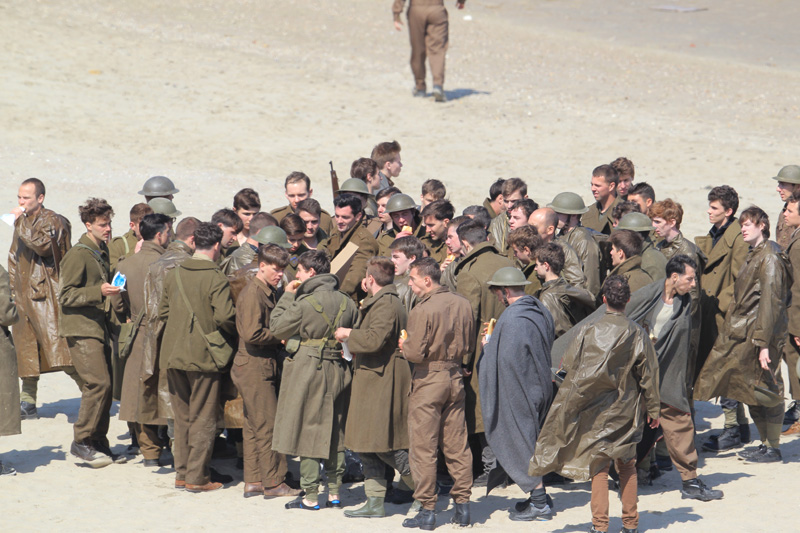 On the set of new movie 'Dunkirk'