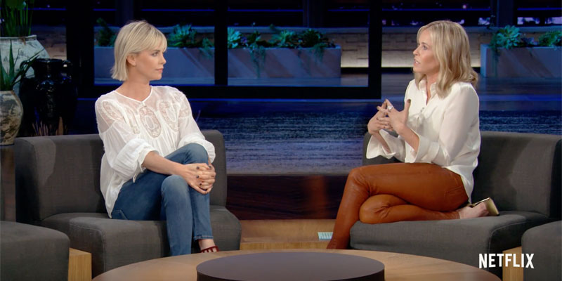 Charlize Theron ospite di Chelsea Handler su Netflix