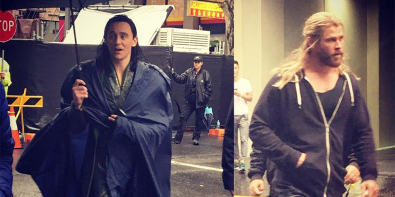 Thor: Ragnarok - ecco Chris Hemsworth e Tom Hiddleston sul set!