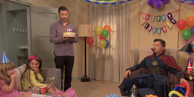 Jimmy Kimmel Hires Dr. Strange for a Birthday Party   YouTube