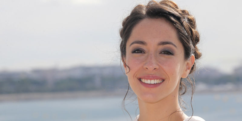 """Actress Oona Chaplin poses during photocall at the 29th MIPCOM (International Film and Programme Market for Tv, Video,Cable and Satellite) in Cannes, southeastern France, Monday, Oct. 7, 2013. Chaplin presents at the Mipcom, the new series """"Cedar Cove"""".(AP Photo/Lionel Cironneau )"""
