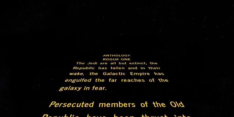 Ecco l'Opening Crawl di Rogue One: A Star Wars Story