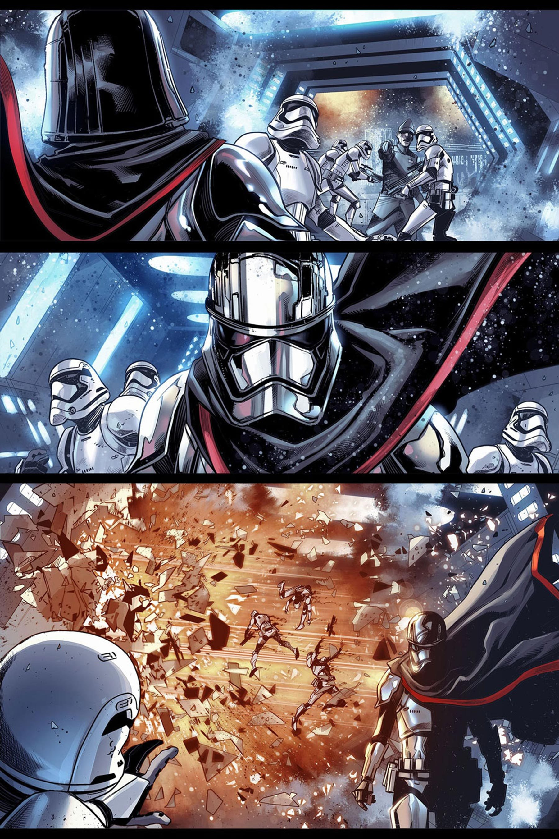 The First Order Strikes Back! Your First Look at JOURNEY TO STAR WARS: THE LAST JEDI  CAPTAIN PHASMA #1! CR: Marvel Comics