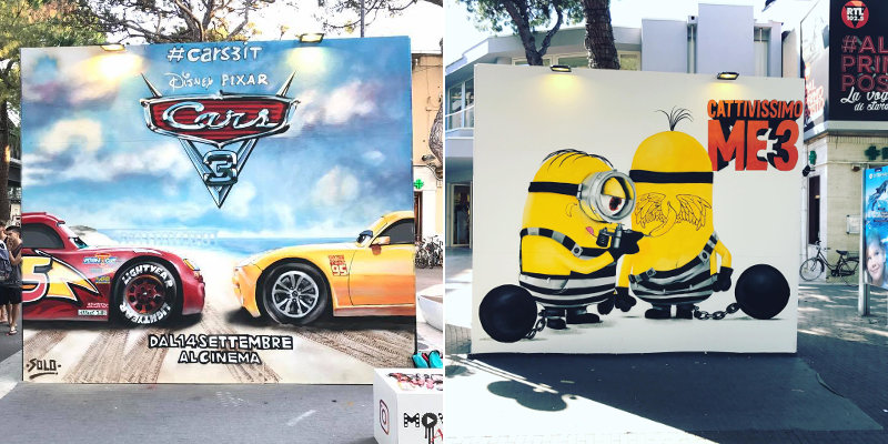Movie Art: Solo e Diamond omaggiano Cars 3 e Cattivissimo Me 3 [Foto e Video]