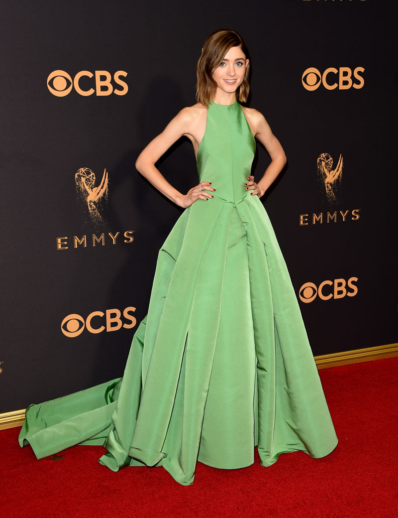 LOS ANGELES, CA - SEPTEMBER 17:  Actor Natalia Dyer attends the 69th Annual Primetime Emmy Awards at Microsoft Theater on September 17, 2017 in Los Angeles, California.  (Photo by J. Merritt/Getty Images)