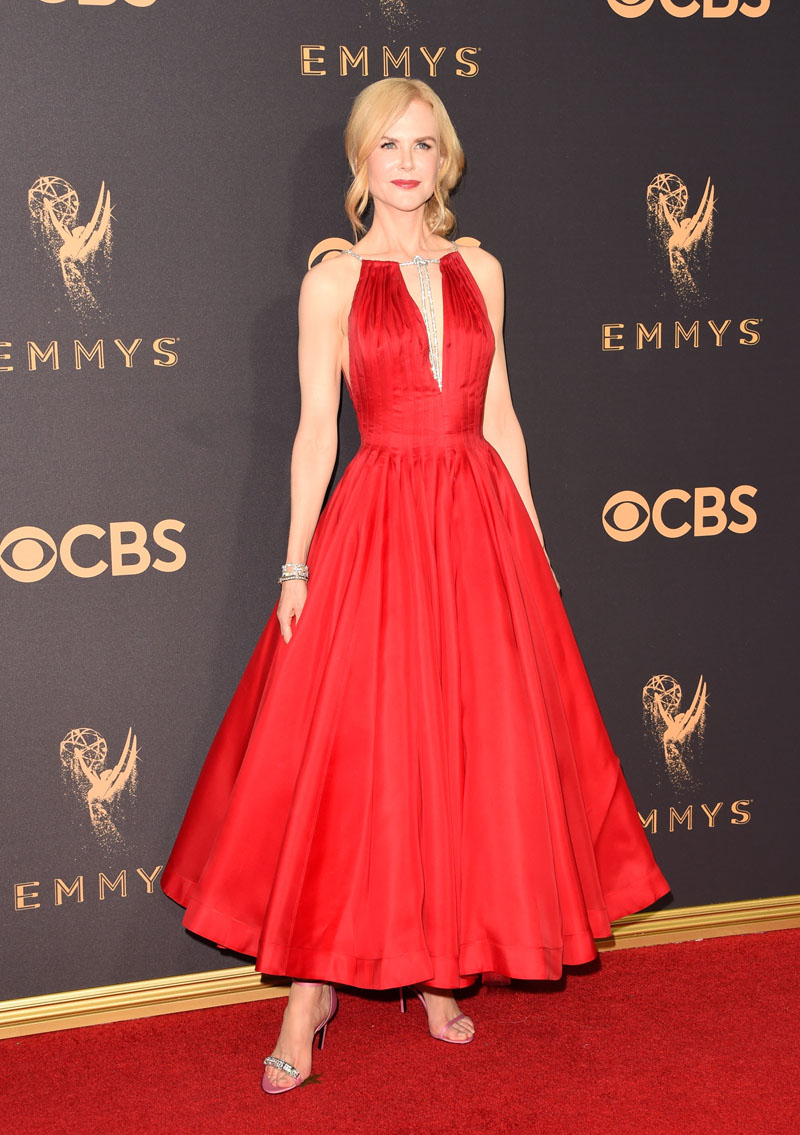 LOS ANGELES, CA - SEPTEMBER 17:  Actor Nicole Kidman attends the 69th Annual Primetime Emmy Awards at Microsoft Theater on September 17, 2017 in Los Angeles, California.  (Photo by J. Merritt/Getty Images)