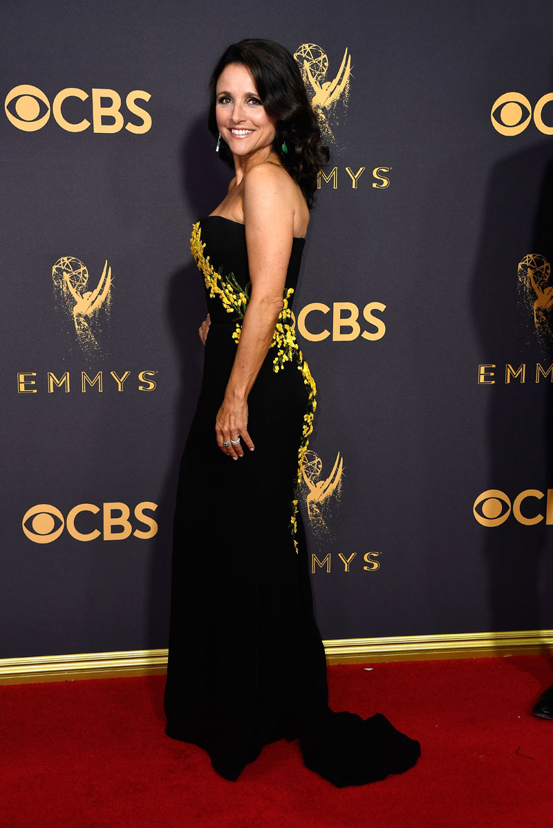 LOS ANGELES, CA - SEPTEMBER 17: Actor Julia Louis-Dreyfus attends the 69th Annual Primetime Emmy Awards at Microsoft Theater on September 17, 2017 in Los Angeles, California.  (Photo by Frazer Harrison/Getty Images)