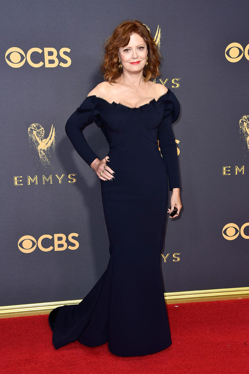 LOS ANGELES, CA - SEPTEMBER 17: Actor Susan Sarandon attends the 69th Annual Primetime Emmy Awards at Microsoft Theater on September 17, 2017 in Los Angeles, California.  (Photo by Frazer Harrison/Getty Images)