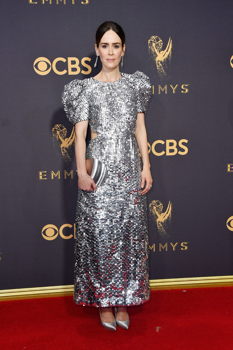 LOS ANGELES, CA - SEPTEMBER 17: Actor Sarah Paulson attends the 69th Annual Primetime Emmy Awards at Microsoft Theater on September 17, 2017 in Los Angeles, California.  (Photo by Frazer Harrison/Getty Images)