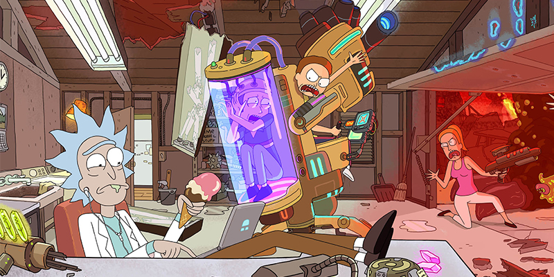 The Doc(Manhattan) is in – Rick and Morty Stagione 3: Cetriolo Rick vs Obama