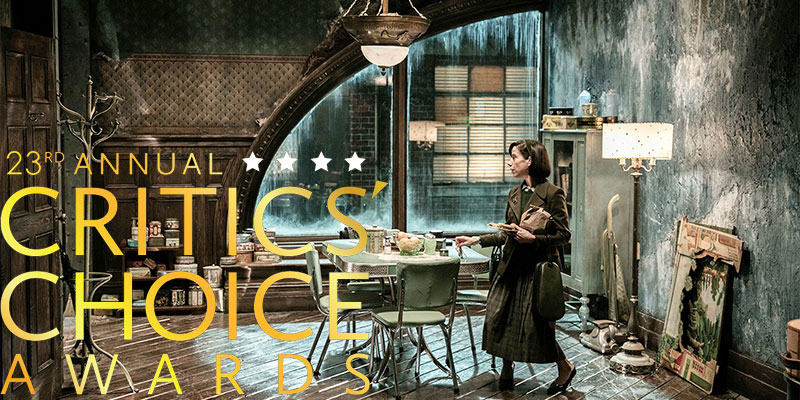 Critics' Choice Awards – The Shape Of Water in testa con 14 nomination
