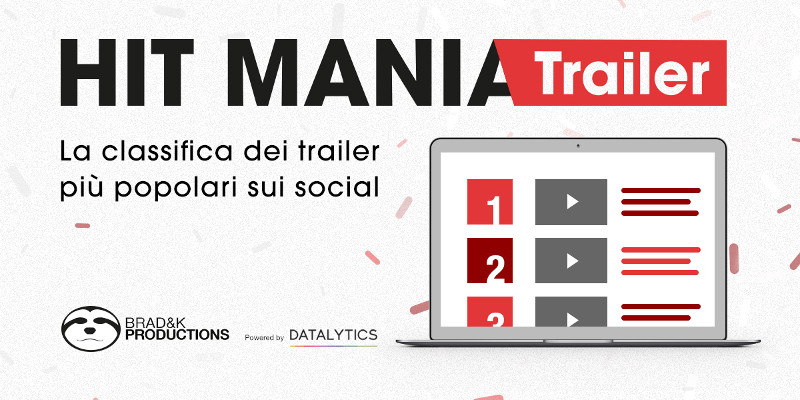 Hit Mania Trailer: la classifica in tempo reale dei trailer più popolari sui social network
