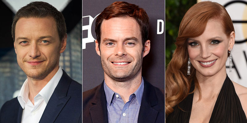 IT: Chapter 2 – James McAvoy e Bill Hader in trattative; Jessica Chastain sarà Beverly