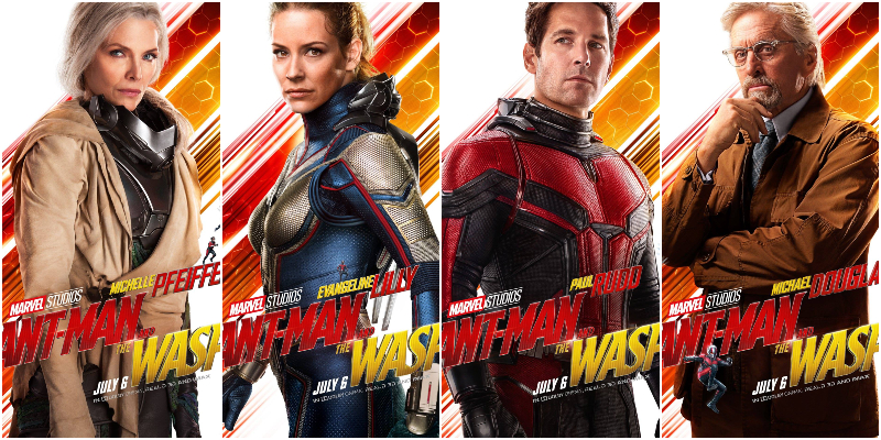 I protagonisti di Ant-Man and the Wasp ritratti sui nuovi poster