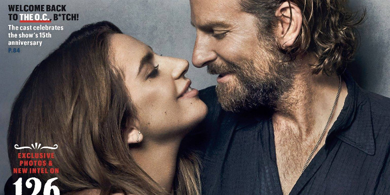 A Star is Born: Lady Gaga e Bradley Cooper sulla cover di Entertainment Weekly