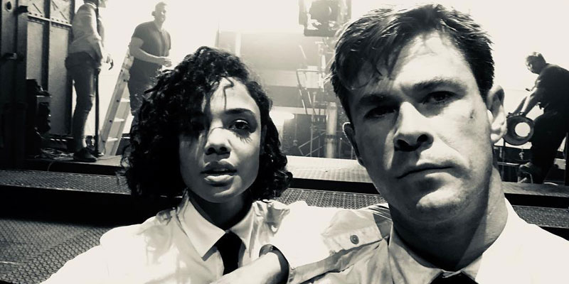 Men in Black – Chris Hemsworth e Tessa Thompson di nuovo insieme in una foto dal set