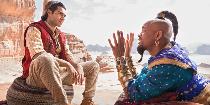 Aladdin – Un promo art mostra Will Smith in versione Genio blu