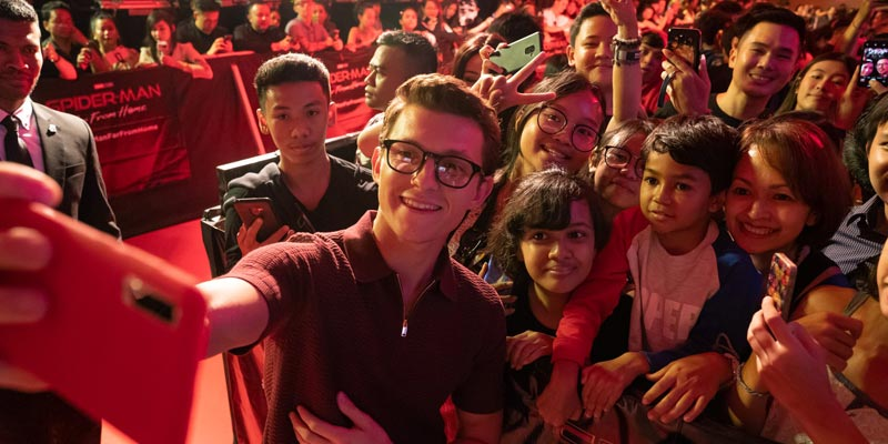 Spider-Man: Far From Home – Tom Holland al fan event di Bali