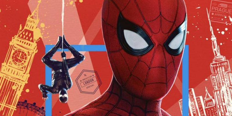 Spider-Man: Far From Home – Spidey, Fury e Mysterio sul poster IMAX