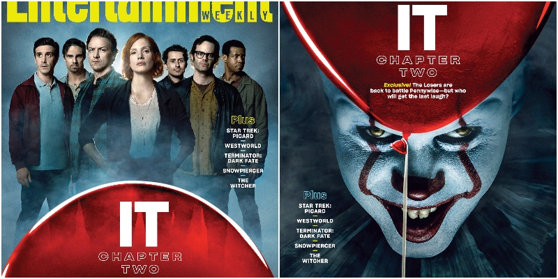 IT CAPITOLO DUE: i Perdenti e Pennywise sulle cover di Entertainment Weekly