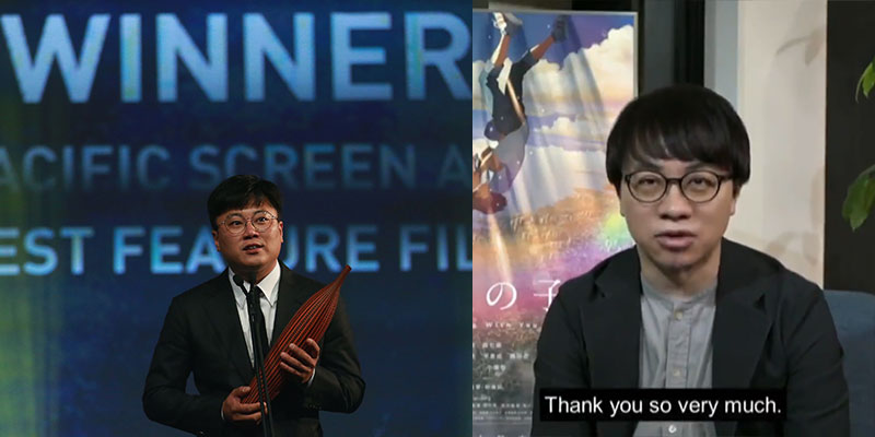 Asia Pacific Screen Awards vincono Weathering with You e Parasite