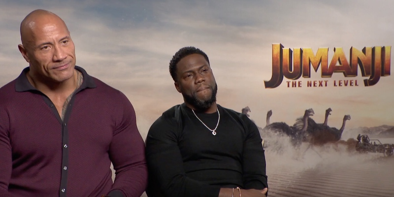 Jumanji: The Next Level – ScreenWeek intervista Dwayne Johnson e Kevin Hart