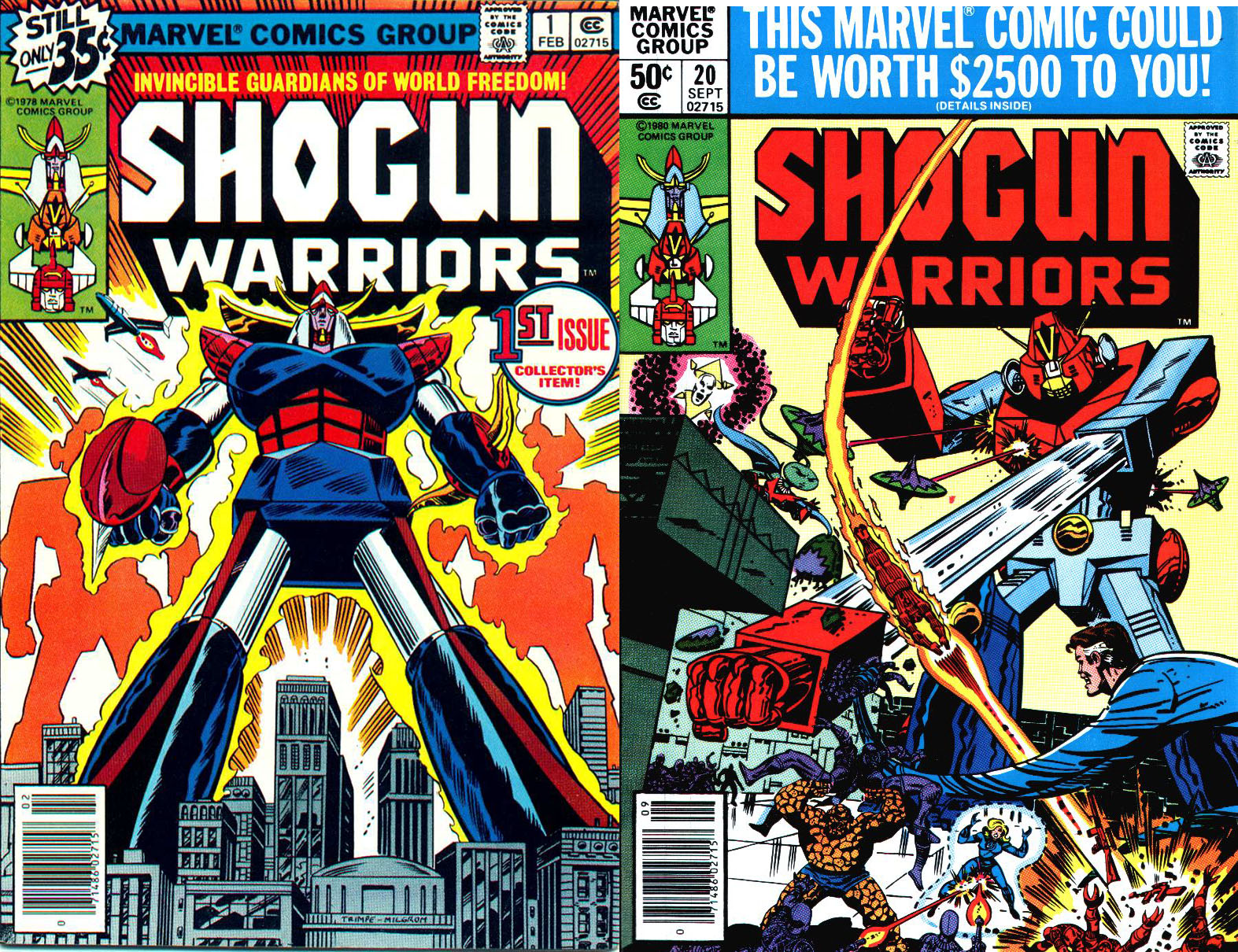 Shogun Warriors Marvel comic