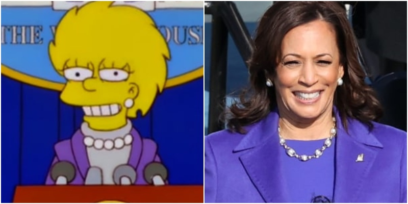 I Simpson colpiscono ancora! Il look di Kamala Harris anticipato da Lisa
